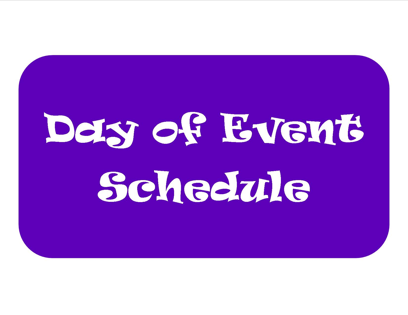 Day of Event Schedule Button