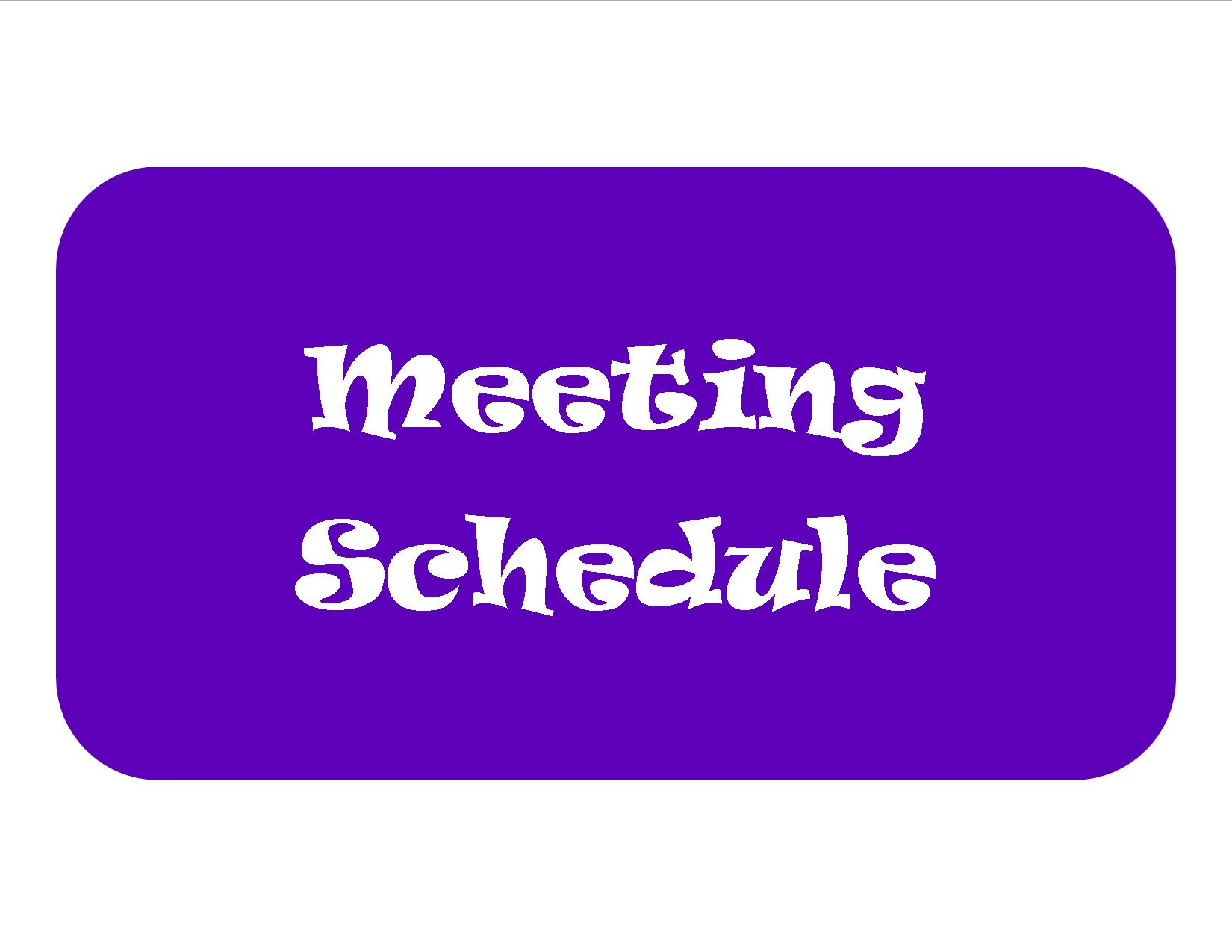 Meeting Schedule Button