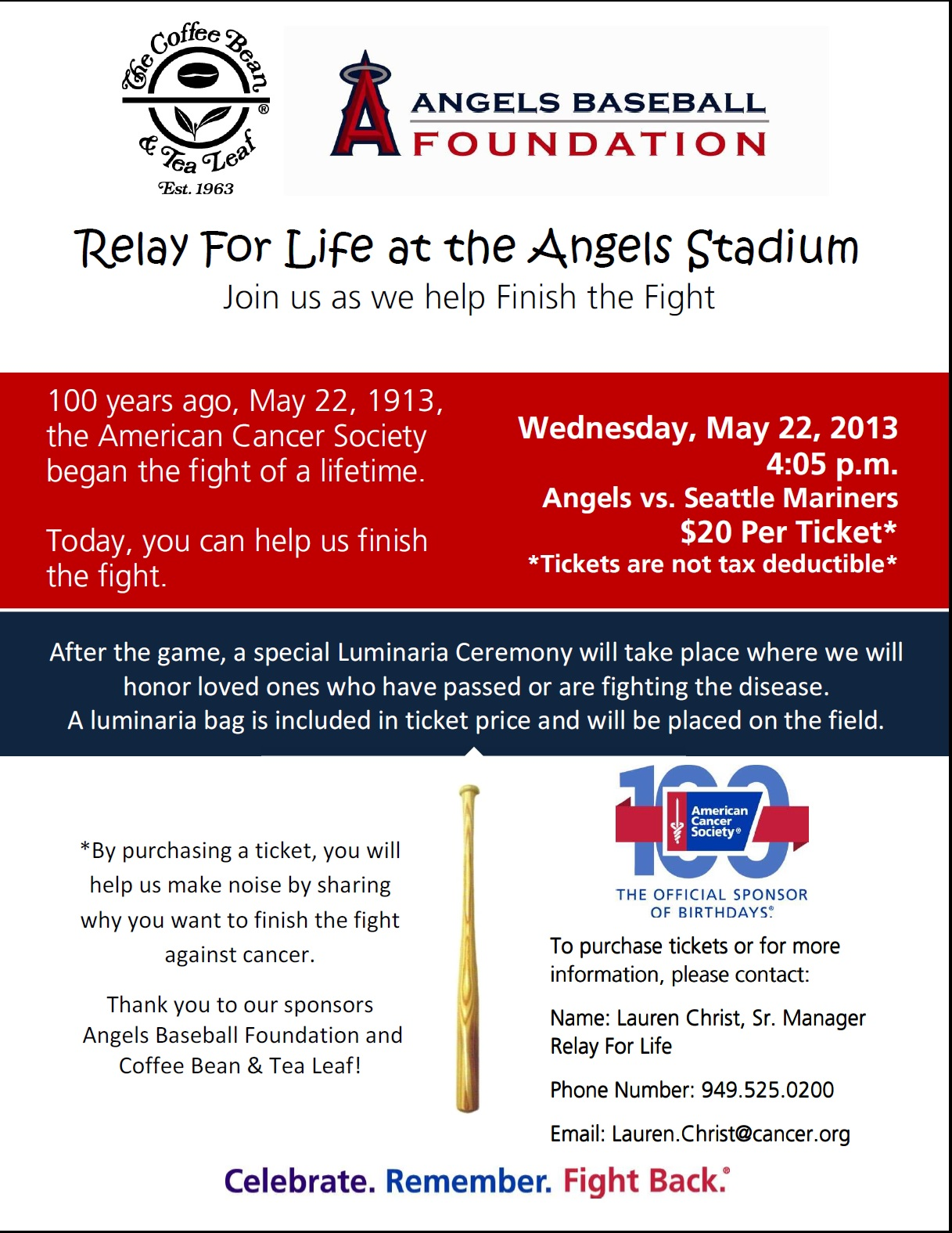 angels game relay flyer