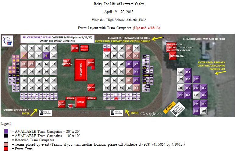 2013 Campsite and Event Map