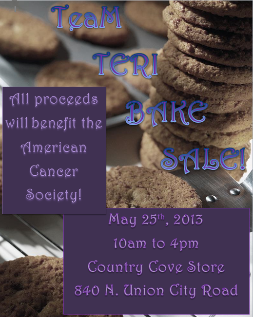Team Teri Bake Sale