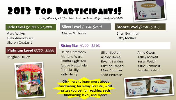 Header - Top 2013 Participants 5.8.13
