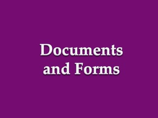 Documents and Forms Button