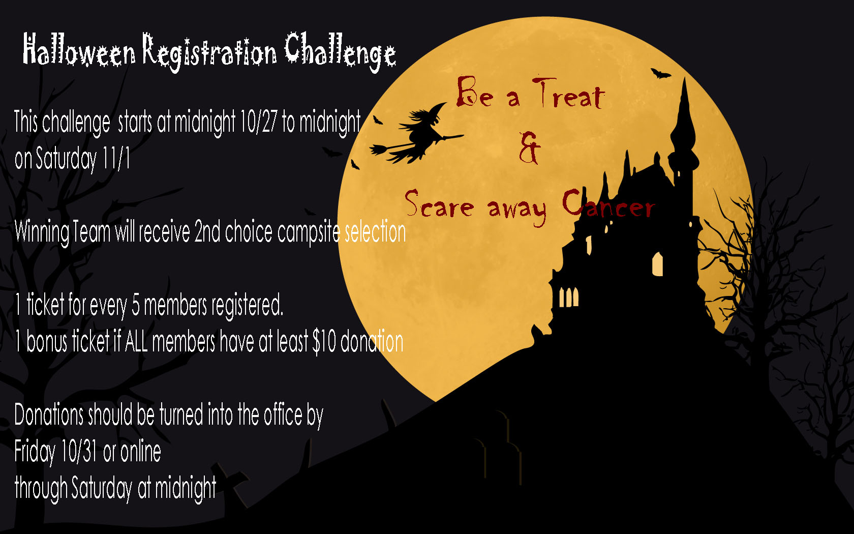 Halloween Registration Challenge