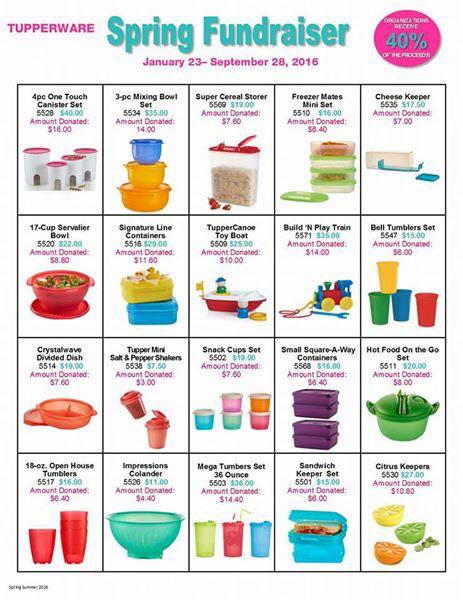 Tupperware Fundraiser Page 1