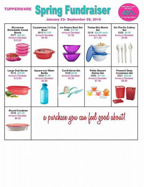 Tupperware Fundraiser Page 2