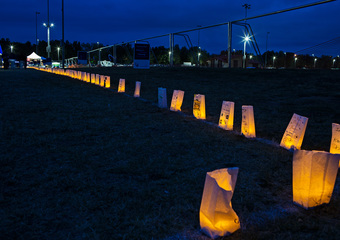Media Wall_Luminaria Track At Night