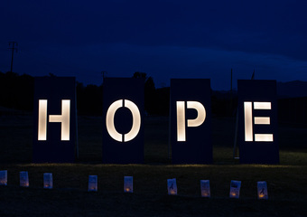 Media Wall_Hope Sign Night