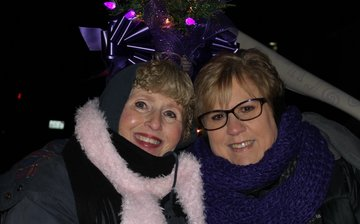 Cathy Harms and Kitty Bossert Parade