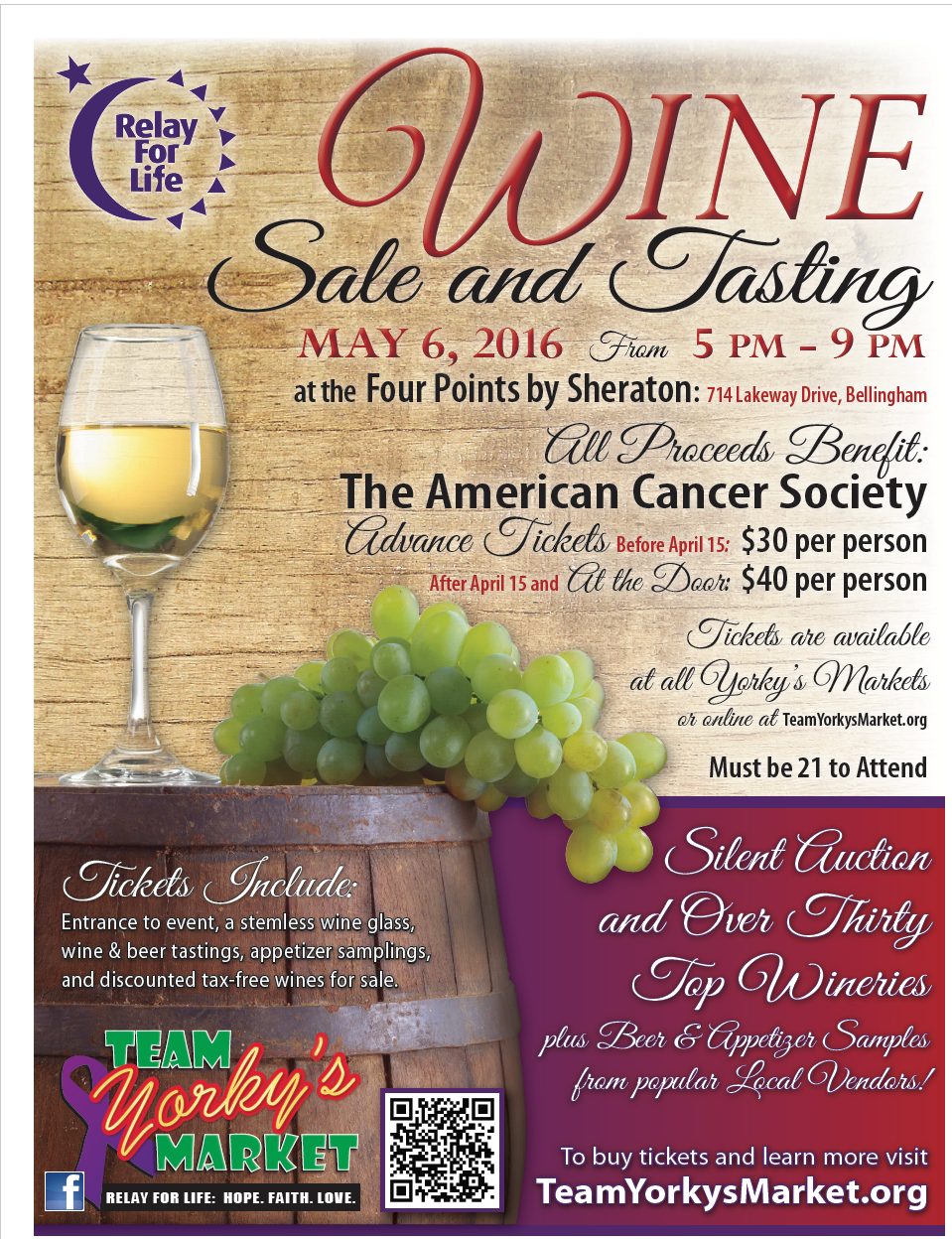 Yorky's Market May Fundraiser (Wine Sale and Tasting)