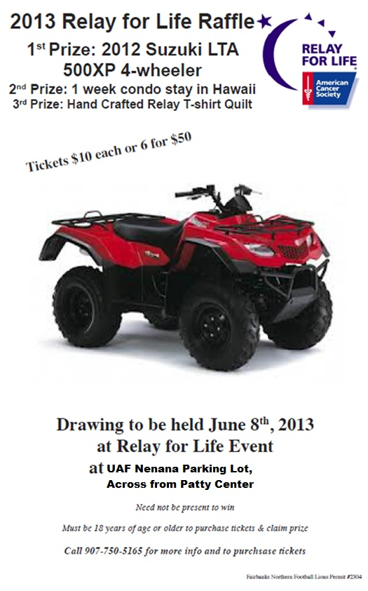 Fairbanks Raffle Flyer