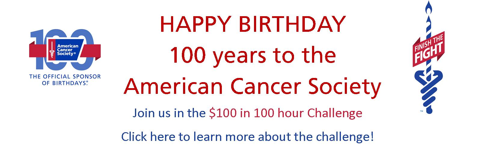 100th Birthday_Front Page image