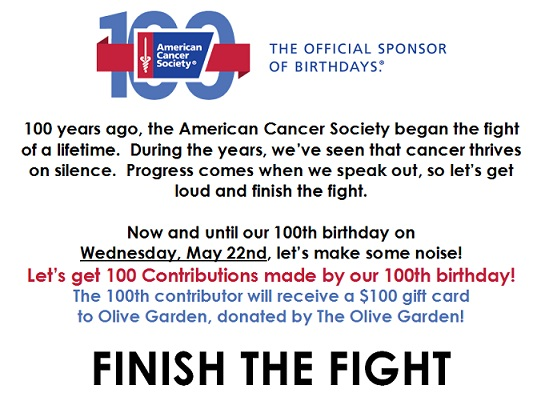 100th Birthday Campaign