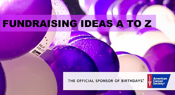 A TO Z FUNDRAISING IDEAS BANNER