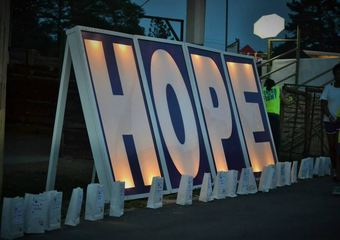 Media Wall- HOPE sign