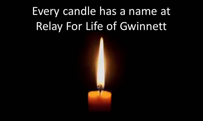 Every Candle Has a Name at Gwinnett Relay- Candle Only