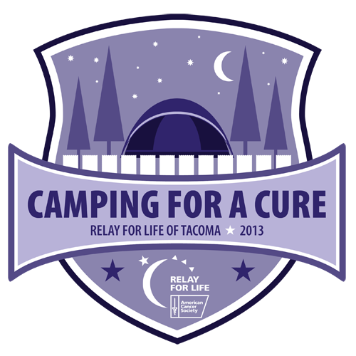 front small camping for a cure logo