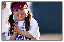 smiling girl relay front page
