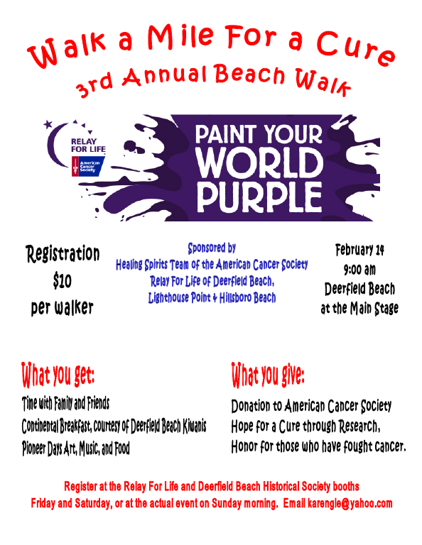 beach walk flyer