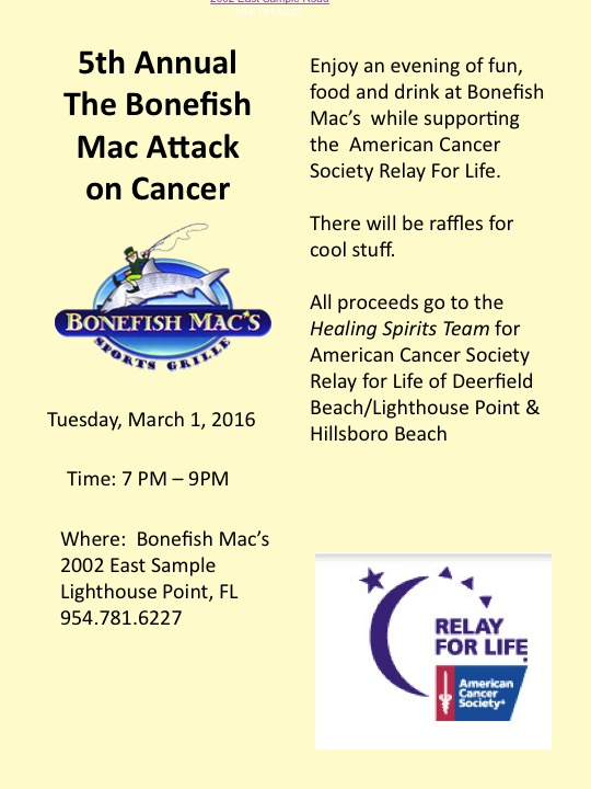 Bonefish Mac fundraiser