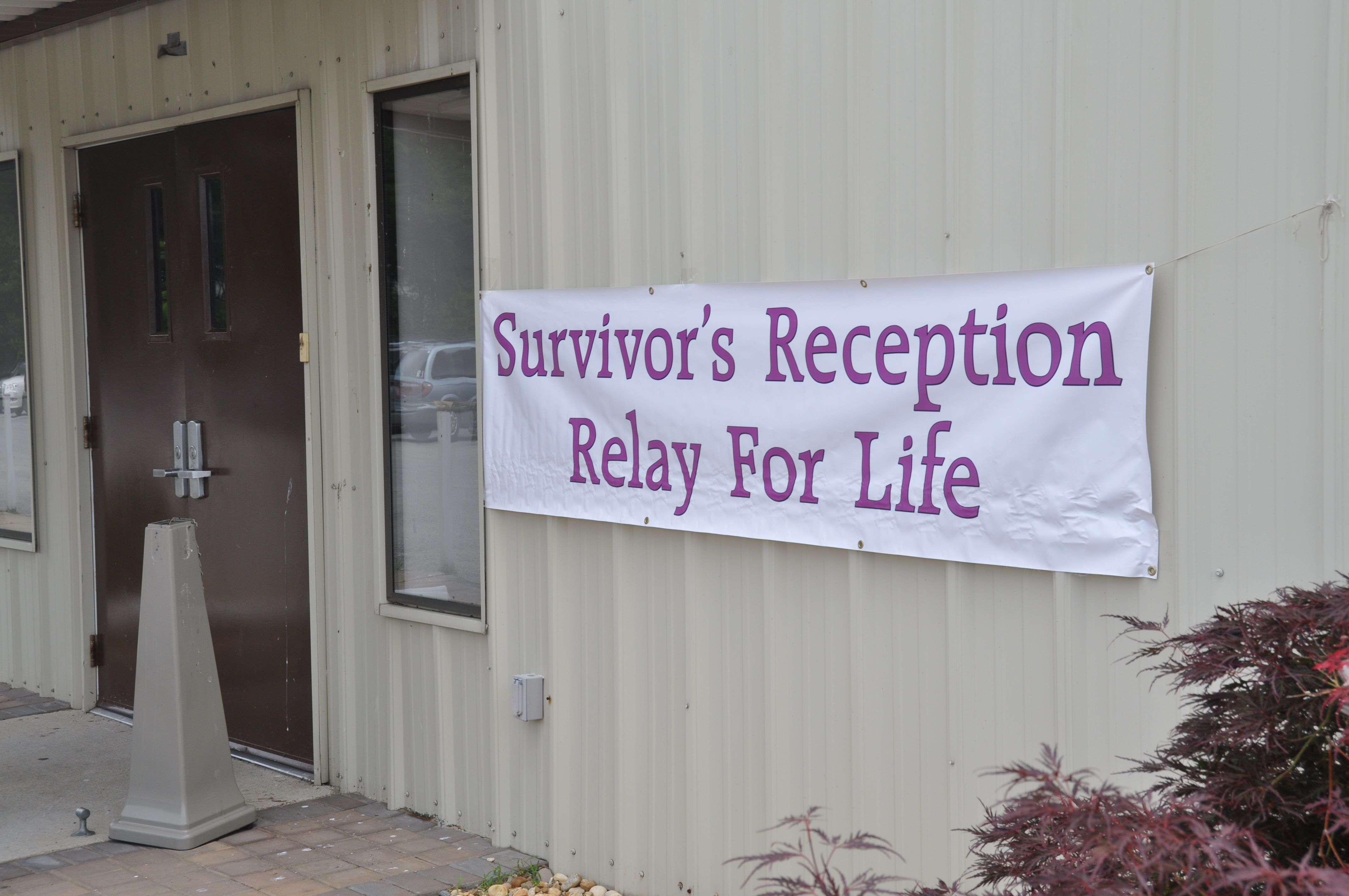 Survivor reception sign
