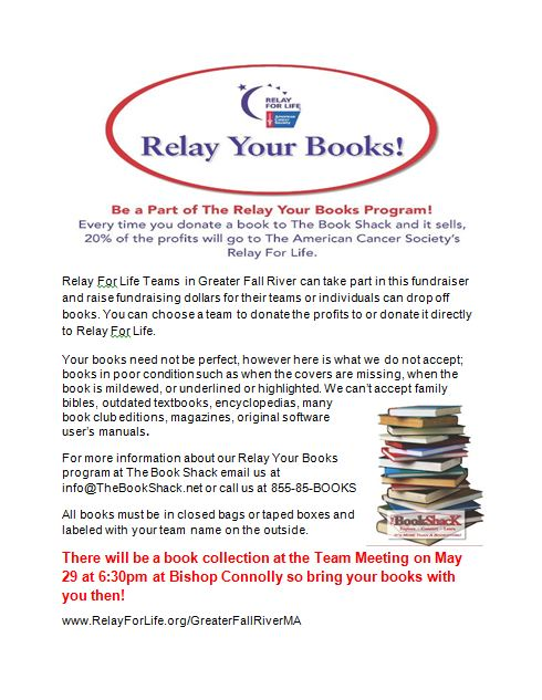 Relay your books  flyer